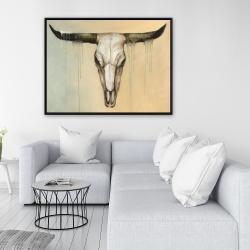 Framed 36 x 48 - Bull skull