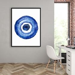 Framed 36 x 48 - Erbulus blue evil eye