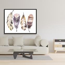 Framed 36 x 48 - Purple feather set