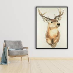 Framed 36 x 48 - Deer portrait