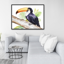 Framed 36 x 48 - Toucan perched