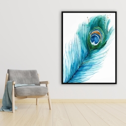 Framed 36 x 48 - Long peacock feather
