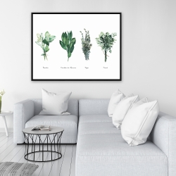 Framed 36 x 48 - Fines herbes
