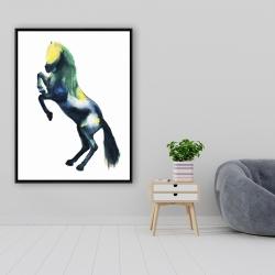 Framed 36 x 48 - Greeting horse