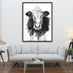 Framed 36 x 48 - Cow