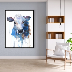 Framed 36 x 48 - Watercolor jersey cow