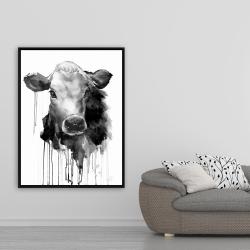 Framed 36 x 48 - Jersey cow