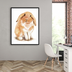 Framed 36 x 48 - Lop-rabbit