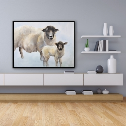 Framed 36 x 48 - Sheep and its baby