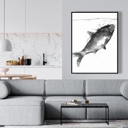 Framed 36 x 48 - Happy swimming fish