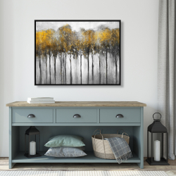 Framed 36 x 48 - Abstract yellow forest