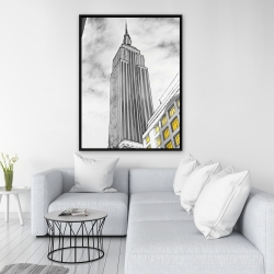Framed 36 x 48 - Outline of empire state building