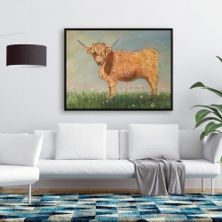 Framed 36 x 48 - Daisy the highland cow