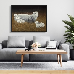 Framed 36 x 48 - Sheep and lambs