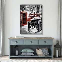 Framed 36 x 48 - European street