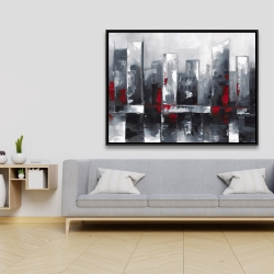 Framed 36 x 48 - Abstract cityscape