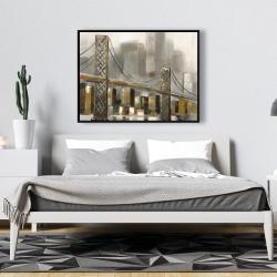 Framed 36 x 48 - Bridge by a cloudy day
