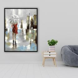 Framed 36 x 48 - Red dress woman