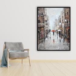 Framed 36 x 48 - City rain