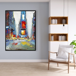 Framed 36 x 48 - Abstract and colorful buildings