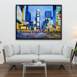 Framed 36 x 48 - Cityscape in times square