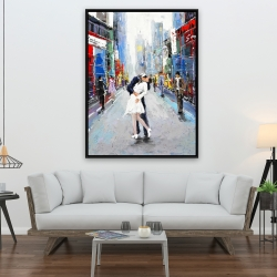 Framed 36 x 48 - Kiss of times square