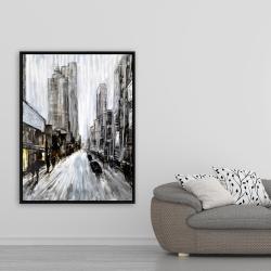 Framed 36 x 48 - Gray gloomy street