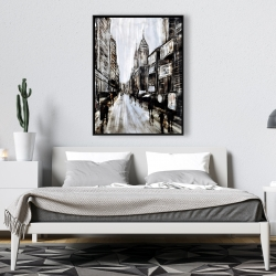 Framed 36 x 48 - Busy gray street