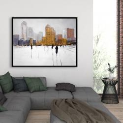 Framed 36 x 48 - City on the horizon