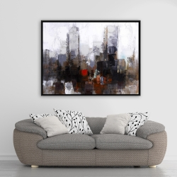 Framed 36 x 48 - Obscure city