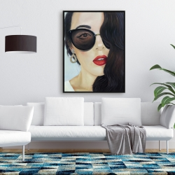 Framed 36 x 48 - Fashionable sunglasses