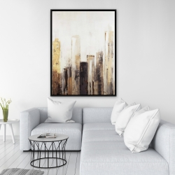 Framed 36 x 48 - Earthy tones city