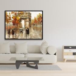 Framed 36 x 48 - Arc de triomphe in autumn