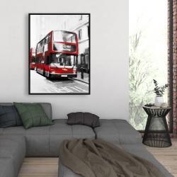 Framed 36 x 48 - Red bus londoner