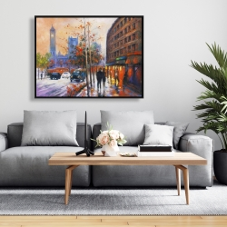 Framed 36 x 48 - City by fall