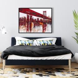 Framed 36 x 48 - Red bridge