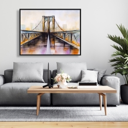 Framed 36 x 48 - Colorful brooklyn bridge