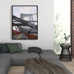 Framed 36 x 48 - Bridge architecture