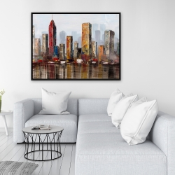 Framed 36 x 48 - Rust looking city
