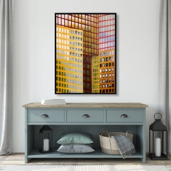 Framed 36 x 48 - Skyscrapers
