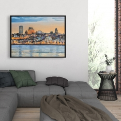 Framed 36 x 48 - Skyline of quebec city
