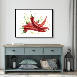 Framed 36 x 48 - Red hot peppers