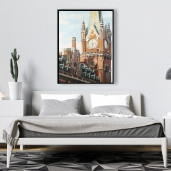 Framed 36 x 48 - St-pancras station in london