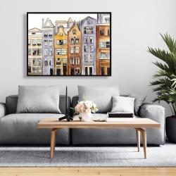 Framed 36 x 48 - Amsterdam houses hotel