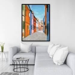 Framed 36 x 48 - Colorful houses in italy