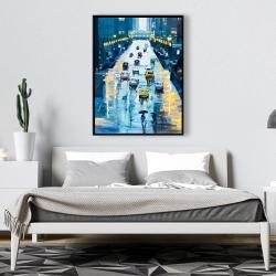 Framed 36 x 48 - Rainy streets of new york