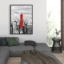 Framed 36 x 48 - Empire state building of new york