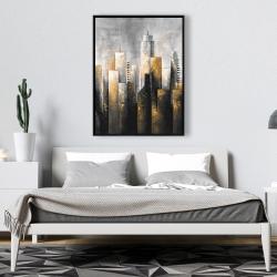 Framed 36 x 48 - Abstract skyline