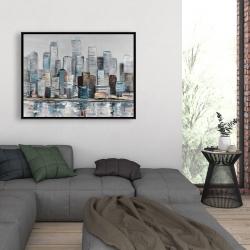 Framed 36 x 48 - Abstract urban skyline