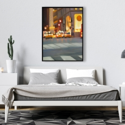 Framed 36 x 48 - Blurred view of new york